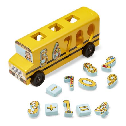 Melissa & Doug Wooden Maths Bus